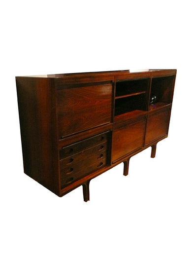 Gianfranco Frattini mahogany wood cabinet 1950 1960