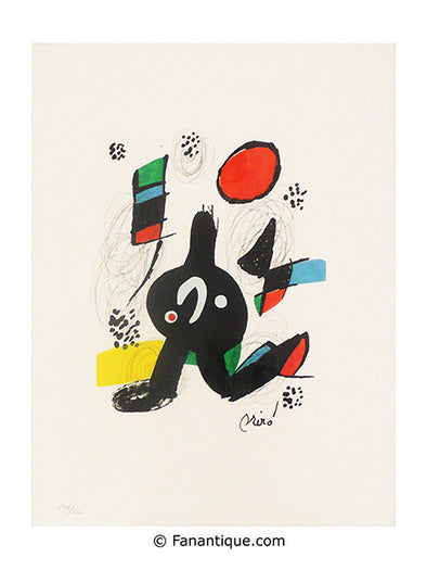 Joan Miro la melodie acide art lithographies original prints