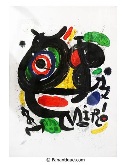 Joan Miro Sculptures art moderne prints lithograph