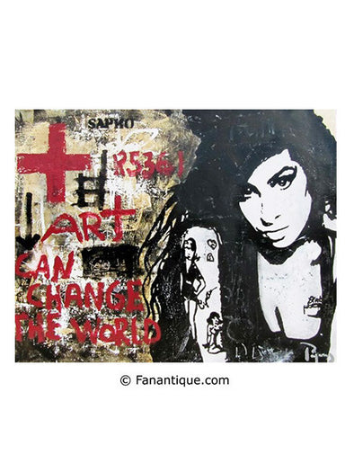 Juan Manuel Pajares Amy Winehouse street art paintings