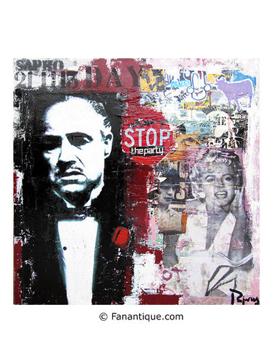 Juan Manuel Pajares War street art The Godfather Le Parrain