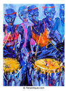 Larry Otoo Blue Throb Ghana contemporary african art