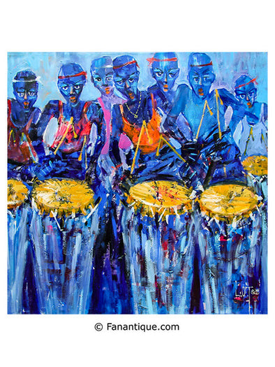 Larry Otoo Blue Throb Ghana art africain contemporain
