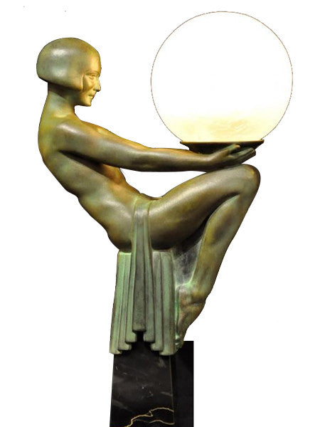 Max Le Verrier Lampe Enigme Art Deco Lamp Lighting 1930