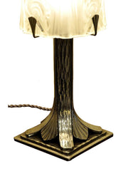 Muller brothers art deco lamp Nancy iron glass lightings