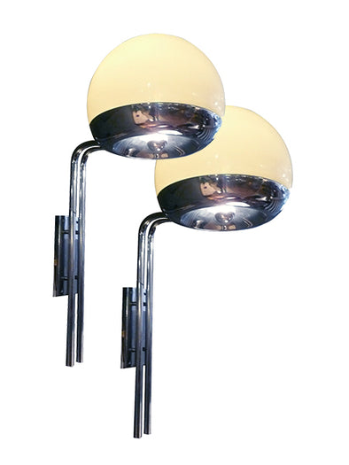 Pair of wall lamps design 1970 modern lamps lightings
