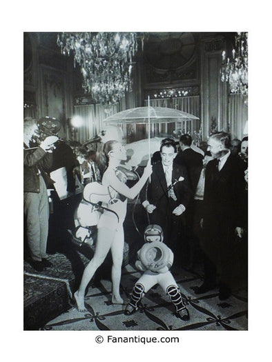 Salvador Dali Happening au Meurice art photographie Paris 1965 photo