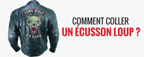 comment coller un ecusson loup ?