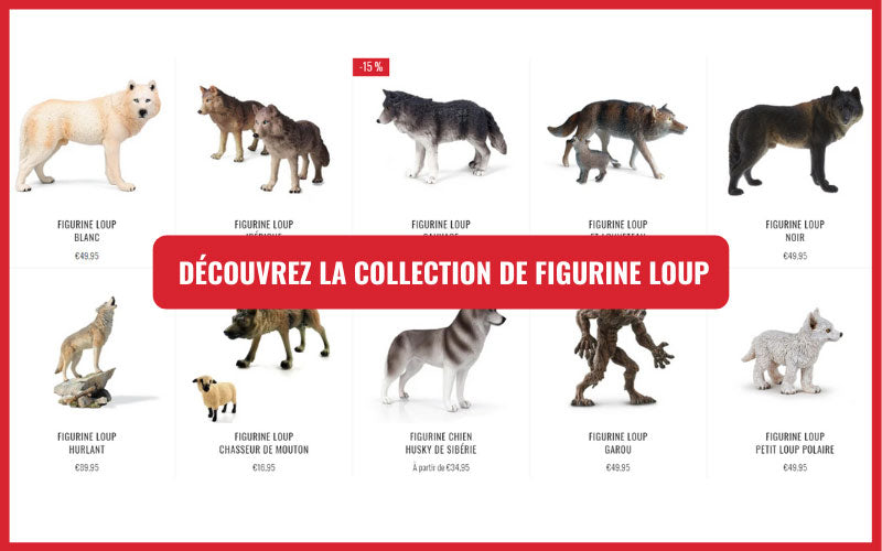 collection figurine loup