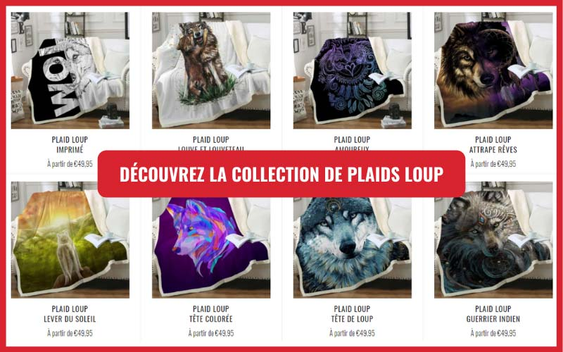 collection plaid loup