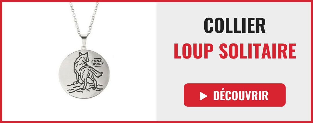collier loup solitaire