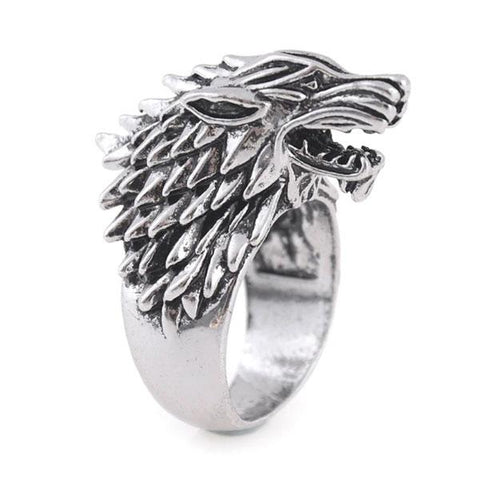 Bague stark game of thrones acier inoxydable
