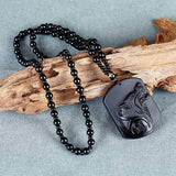 Collier Obsidienne Loup
