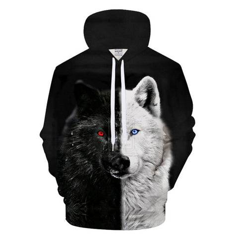 sweat à capuche loup