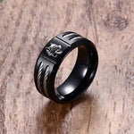 bague loup animal totem