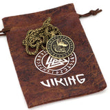 collier viking homme doré