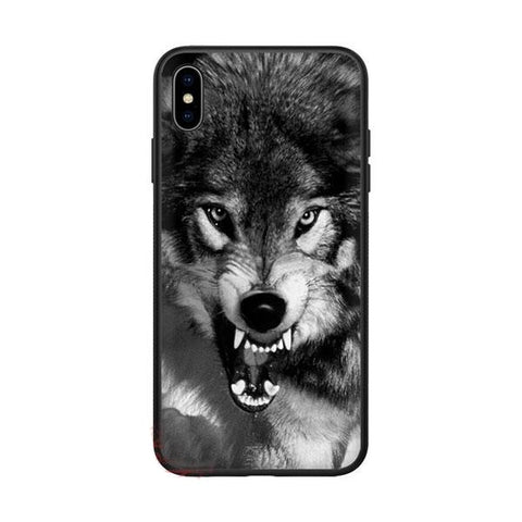Coque iphone loup féroce