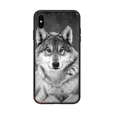 Coque iphone loup gris
