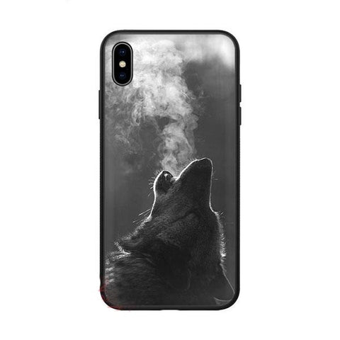 Coque iphone loup hurlant
