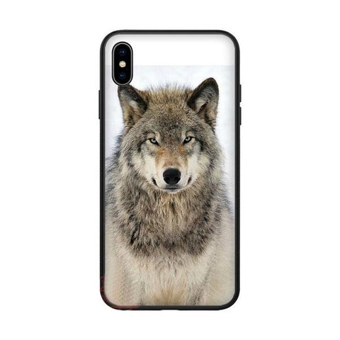 Coque iphone loup observateur