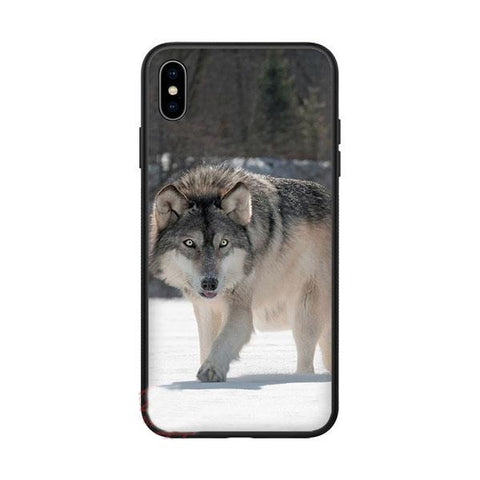 Coque iphone loup sibérien