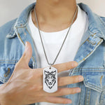 pendentif loup homme i am wolf