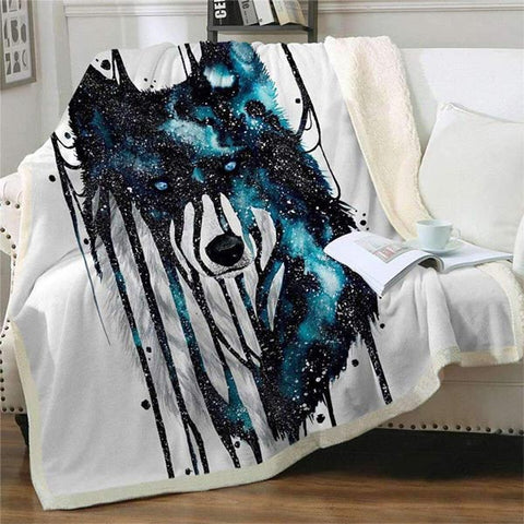 Plaid loup decor