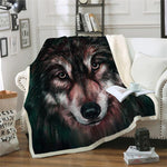 Plaid tete de loup