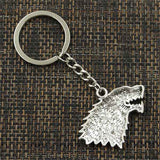 porte clé game of thrones stark face arriere