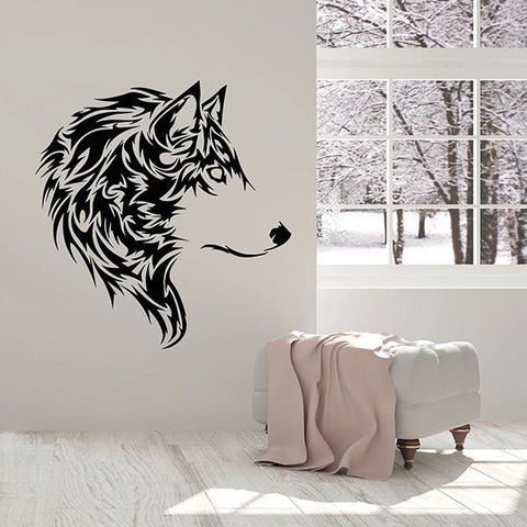 stickers-loup-tribal