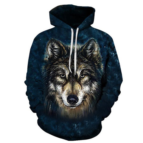 sweat capuche loup