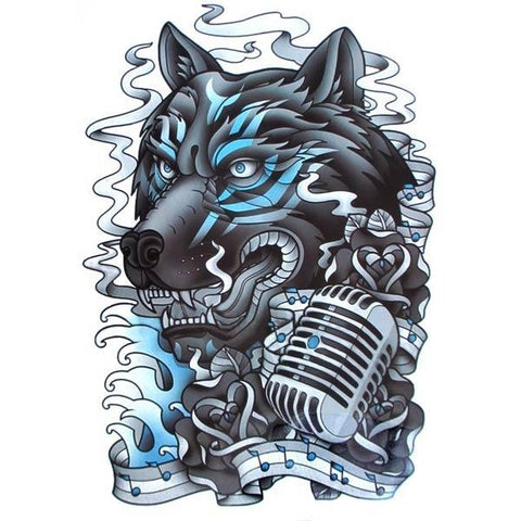 Tatouage loup old school