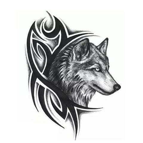 Tatouage loup tribal