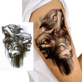 Tattoo loup agressif