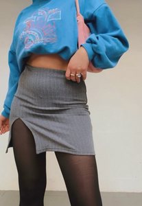 GREY RECLAIMED SKIRT - HISSY FIT CLOTHING LTD