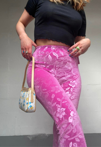 PINK FLOWER FLARES (03) - HISSY FIT CLOTHING LTD