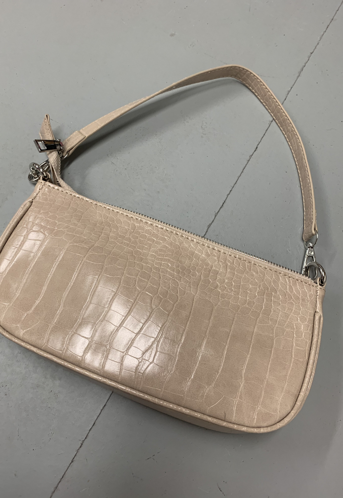 NUDE CROC SHOULDER BAG - HISSY FIT CLOTHING LTD