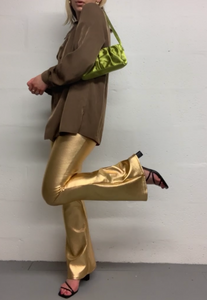 GOLD TEXTURE FLARES - HISSY FIT CLOTHING LTD