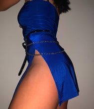 Load image into Gallery viewer, BLUE HISSY SPLIT DRESS - HISSY FIT CLOTHING LTD