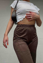 Load image into Gallery viewer, BROWN MOLESKIN COMFORT CARGOS - HISSY FIT CLOTHING LTD