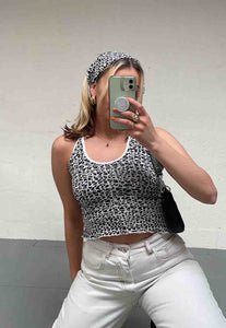 TRIANGLE PRINT STRAPPY BACK TOP - HISSY FIT CLOTHING LTD