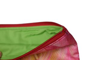 large flat zippered pouch (ranunculus)