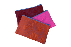 large flat zippered pouches (assorted colours)