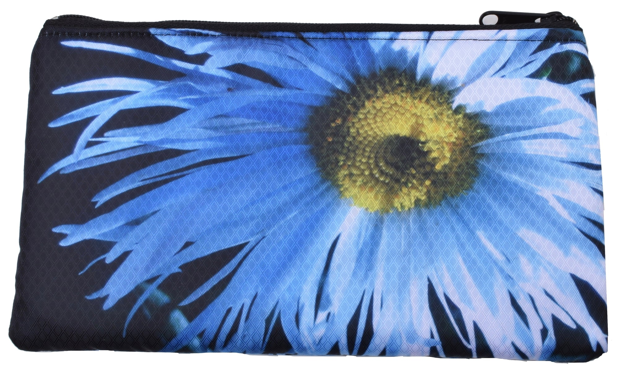 large flat zippered pouch (daisy)