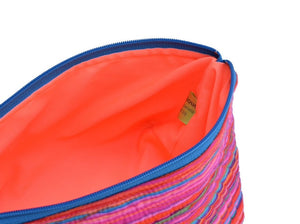 big zippered pouches: strata in red by kaffe fassett