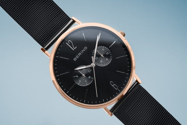 Polished Rose gold watch