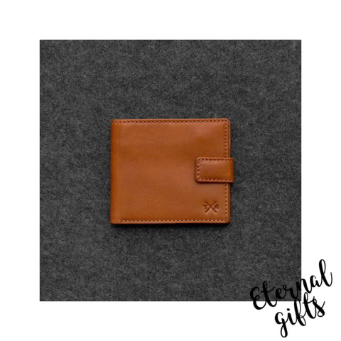 Tudor Italian Leather Classic Man's Wallet by Tumble and Hide. Tan