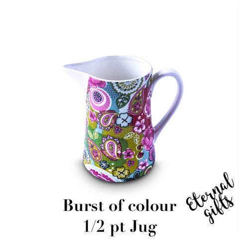 Burst of Colours 1/2 Pt Jug - Shannonbridge Pottery