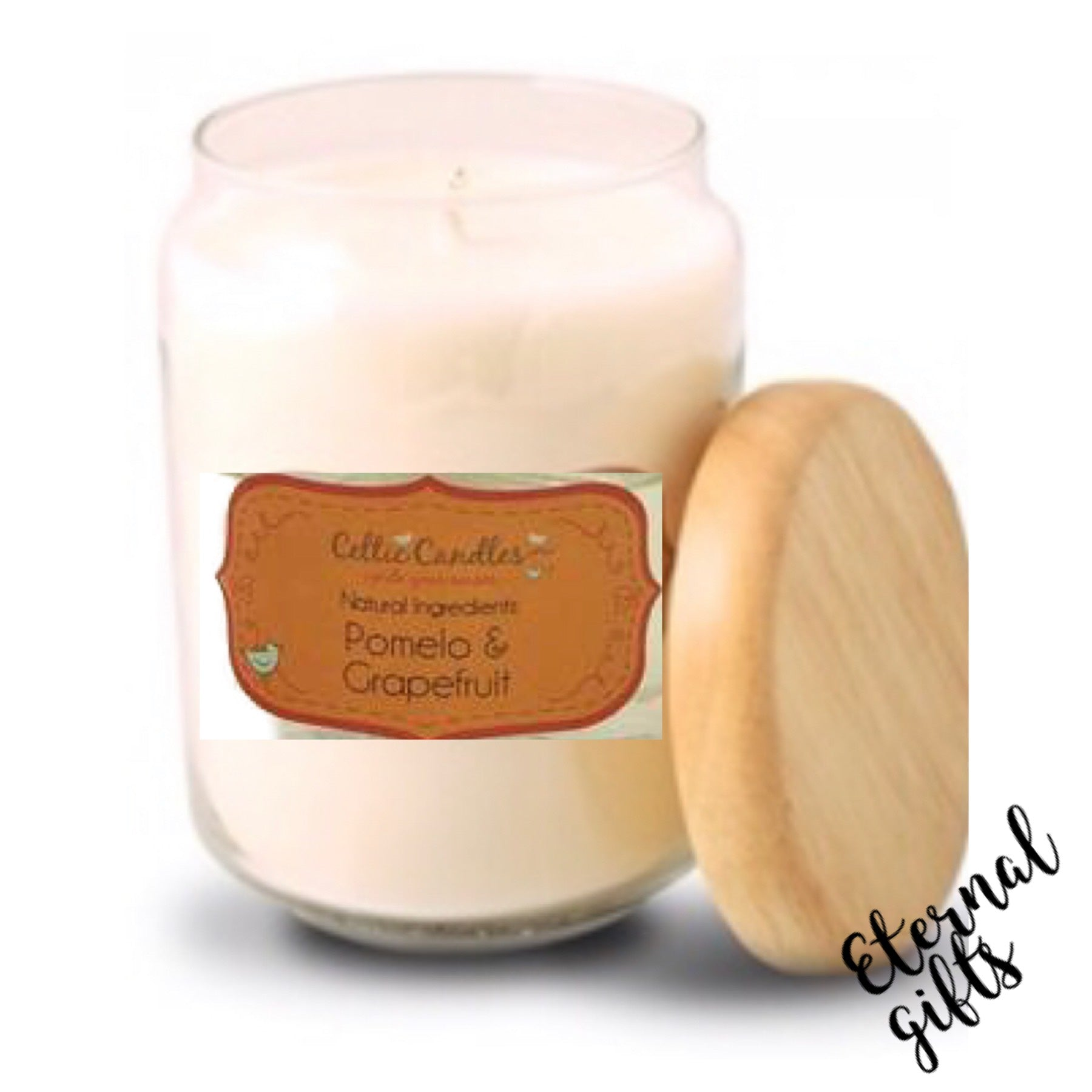 Pomelo & Grapefruit - Large Pop Jar Candle- Celtic Candles