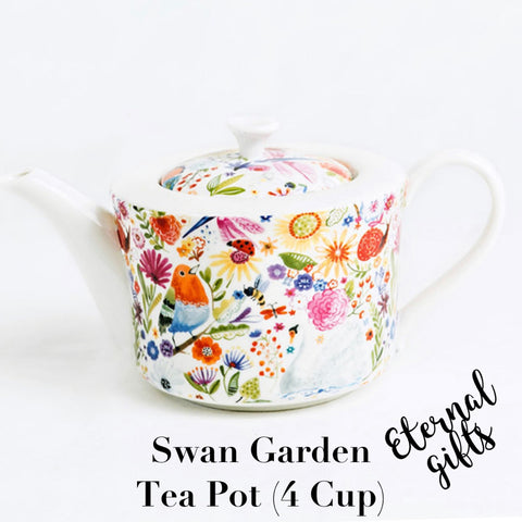 Swan Garden Tea Pot ( 4 Cup) - Shannonbridge Pottery